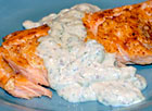 Broiled Salmon with Mustard Dill Sauce