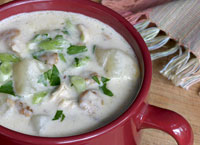 Chicken and Sausage Chowder