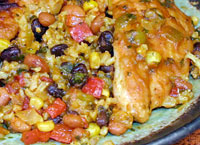 Chicken Cilantro with Rice and Beans