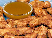 Chicken Strips with Honey Mustard