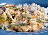 Chicken with Almond Cream Sauce