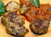 Chicken Koftas with Lime Pickle