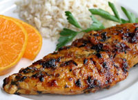 Chipotle Honey Tangerine Glazed Chicken