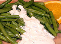 Green Beans with Orange and Basil