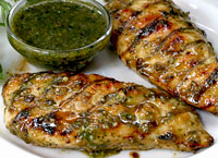 Grilled Chicken with Cashew Dipping Sauce