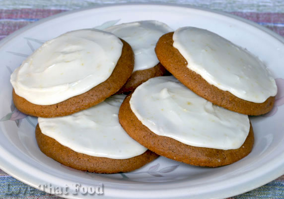 Iced Chewy Spice Cookies