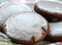 Iced Molasses Ginger Cookies