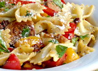 Farfalle Pasta with Sausage and Sweet Peppers