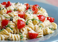 Fusilli with Ricotta & Cherry Tomatoes