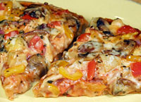 Chicken & Vegetable Pizza