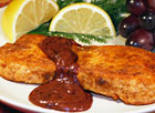 Salmon with Grape Sauce
