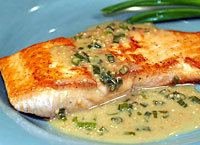 Salmon with Maple Mustard Sauce