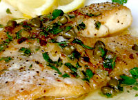Tilapia with Capers and Lemon Wine Sauce
