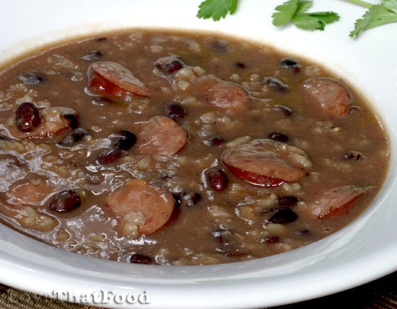 Sausage and Black Bean Soup Recipe with Picture ...