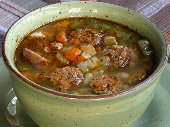 White Bean Soup with Spicy Sausage Recipe with Picture - LoveThatFood ...