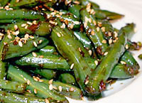 Garlic & Ginger Green Beans