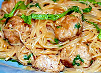Rice Noodles with Pork & Peanut Sauce