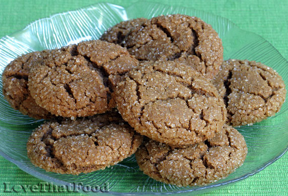 Sugared Ginger Molasses Cookies